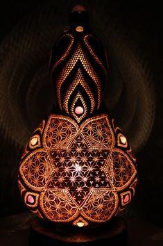 ひょうたんランプ | HEMPdelicブログ Ceramic Pottery, Ceramic Art, Gourd Lamp, Painted Gourds, Pottery Sculpture, Diy Clay, Art Object, Wood Design, Art Studios