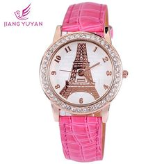 Find More Women's Wristwatches Information about Paris Eiffel Tower watch women PU leather full rhinestone number watch analog for girls ladies party birthday gifts ,High Quality analog watch,China analog game Suppliers, Cheap watch ads from Smart Feeling boutiques on Aliexpress.com