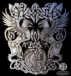 Celtic armband tattoo design by Tattoo-Design on DeviantArt - Celtic Warrior Tattoos, Norse Tattoo, Celtic Tattoos, Viking Tattoos, Arm Tattoo, Sleeve Tattoos, Snake Tattoo, Neue Tattoos, Body Art Tattoos