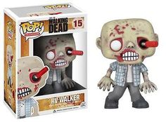 Straight out of The Walking Dead television show on AMC comes an excellent rendition of the RV Walker Zombie - a screwdriver shoved through his eye courtesy of Andrea and shambling for brains - in adorable Pop. Vinyl form. Product Description.