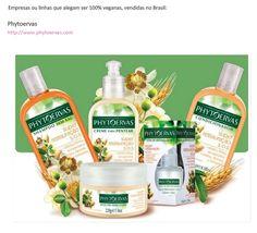 Empresas ou linhas que alegam ser 100% veganas, vendidas no Brasil: http://belezavegan.blogspot.com.br/search/label/Como%20ler%20r%C3%B3tulos http://www.phytoervas.com