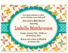 Pinwheel Baby Shower Invitation  DIY Printable by PoofyPrints, $18.00