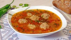 Ciorba de perisoare: secretul ca sa nu se sfarame perisoarele Thai Red Curry, Health, Ethnic Recipes, Soups, Youtube, Zucchini, Easy Meals, Health Care, Soup