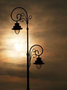 Street lamp in Warsaw