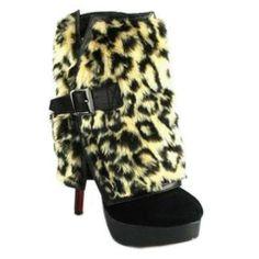 christian louboutin fur ankle boots - Bavilon Salon