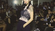 YLYstudio Project A Tulle embellished vest, fashion collection.