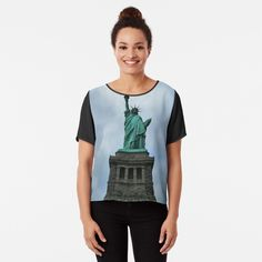 Chiffon Tops, Statue Of Liberty, New York City, Printed, Awesome, Sleeves, Women, Art, Products