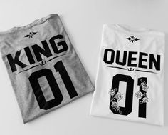 King 01 Queen 01 shirts couple shirts matching shirts for couples