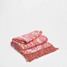 IKAT-WOLLDECKE IN PINK - Bett - Neue Kollektion | Zara Home Österreich