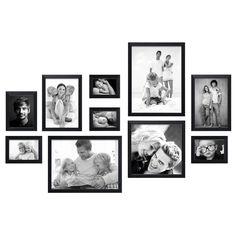 Complete fotolijsten set, bestaande uit 10 fotolijsten in verschillende formaten
