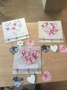 Mothers Day Crafts For Kids At School Mothers Day Crafts For Kids, Mothers Day Cards, Diy For Kids, Valentine Crafts, Holiday Crafts, Valentines, Mom Day, Preschool Art, Diy Home Crafts