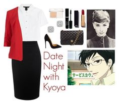 """Date Night with Kyoya"" by charbear231 ❤ liked on Polyvore featuring Faith Connexion, Alexander McQueen, Marc by Marc Jacobs, M&S Collection, Bloomingdale's, Christian Dior, Chanel, Christian Louboutin, women's clothing and women's fashion"