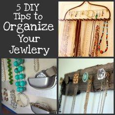 Fabulous ideas!! - 5 Easy DIY Ideas to Organize Your Jewelry
