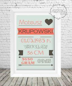 Metryczka_5 Frame, Handmade, Home Decor, Picture Frame, A Frame, Craft, Interior Design, Frames, Home Interior Design