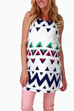 Blue-White-Printed-Maternity-Tank-Dress