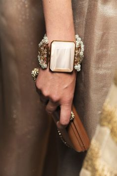 Armani Prive (runway detail) Fall 2013 Haute Couture runway presentation. #bracelet #jewelry