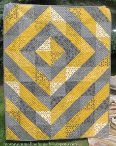 A Comma Quilt Finish - An Asymmetrical Wedding Quilt - Emmaline Bags and Patterns