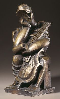 Bronze sculpture, titled Sculpture-Femme debout, was sculpted by the Russian-French sculptor and artist Ossip Zadkine in 1922 - Zadkine Research Modern Sculpture, Sculpture Clay, Abstract Sculpture, Bronze Sculpture, Francis Picabia, Monkey Art, Sculptures Céramiques, Keys Art, Jewish Art