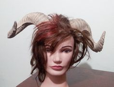 These very light weight horns will top off your Goddess warrior, sexy demon, demon, fantasy costume or any other costume you can think of. Can also be