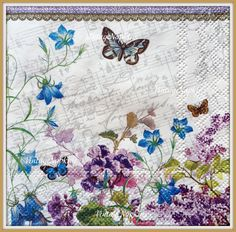 PAPER napkins for DECOUPAGE - VINTAGE Butterfly by VintageNapkins on Etsy