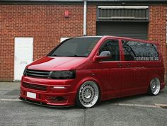 Red vw transporter