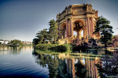 The Palace of Fine Arts in the Marina District of San Francisco, California by McDeez