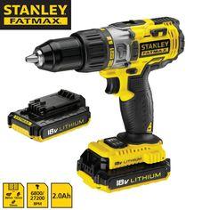 Taladro percutor 18V 2.0Ah Stanley FatMax ® Ref.: FMC625D2-QW + Maletín • Reversible y electrónico. www.jsvo.es