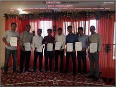 The #Sarvottam Team Got Selection In #GLAT_Construction. See More-http://bit.ly/23U9eRJ
