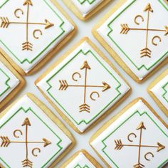 Monogram and Arrows Bridal Shower Cookie Favors