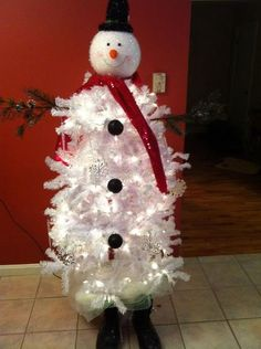 snowman christmas tree | Snowman Christmas tree | Holiday ideas