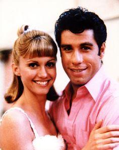 Olivia Newton John and John Travolta! Grease is like the ultimate teenage movie! Like legendary! And so are Sandy and Danny!