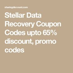Stellar Data Recovery Coupon Codes upto 65% discount, promo codes