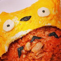 big yellow face  #japanese #japan #totoro #ghibli #ghiblilover #cute #sweets #meals #studioghibli #トトロ #となりのトトロ #トトロごはん #ジブリ #キャラクター
