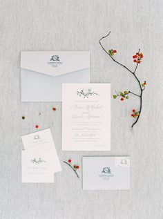 Stationery: Paper & Poste - http://www.stylemepretty.com/portfolio/paperandposte Photography: When He Found Her - whenhefoundher.com   Read More on SMP: http://www.stylemepretty.com/canada-weddings/2017/02/28/anna-david/