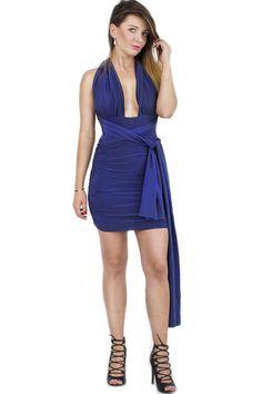 Sukienka multi wiązanie mini