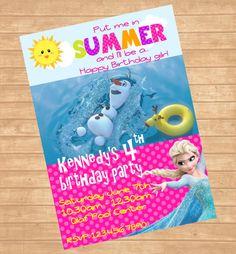 Frozen Summer Invitation Disney Frozen by ColorfulPaperPrints, $11.00