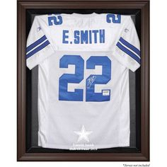 Mounted Memories NFL Hall of Fame Jersey Display Case Frame Color: Brown, NFL Player: Emmitt Smith Dallas Cowboys 2010 Hall of Fame