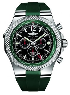 Breitling For Bentley GMT Chronograph Limited Edition Watch In Green