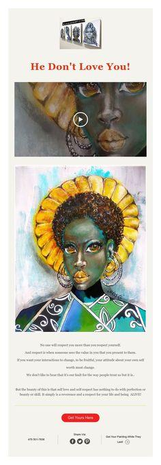 He Don't Love You! African American Artist, American Artists, African Art, Dont Love, Love You, Abstract Portrait Painting, Dark Skin Girls, Respect, Change