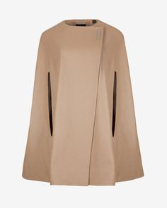 Wool cape - Taupe | Jackets & Coats | Ted Baker