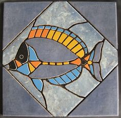 Mosaike auf Netz: Mosaik: Korallenfisch-1