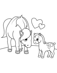 Mother Horse And Foal Coloring Pages and others free printable coloring pages for kids and adults! Just free for you! Horse Coloring Pages, Adult Coloring Pages, Coloring Books, Free Horses, Online Coloring, Free Printable Coloring Pages, Coloring Pages For Kids, Hd Images, Link