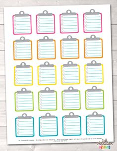 To Do Clipboards Printable Planner Sticker PDF