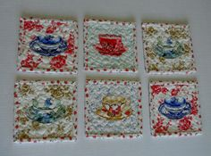 Quilted Coasters Fabric Coasters Mug Rugs by ForgetMeNotQuilteds