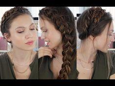 3 Farklı Örgülü Saç Modeli - YouTube