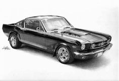 My first car, a Maroon 66 Fastback Mustang, so many memories... http://www.dzineblog360.com/wp-content/uploads/2011/03/Pencil-Sketches-32-2.jpg