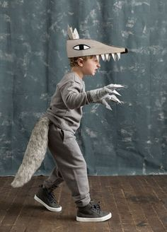 Halloween Costumes for Better Homes and Gardens - Mer MagYou can find Wolf costume and more on our website.Halloween Costumes for Better Homes and Gardens - Mer Mag Animal Costumes For Kids, Kids Costumes Girls, Boy Costumes, Carnival Costumes, Kids Wolf Costume, Costume Ideas, Grease Costumes, Diy Carnival, Scary Costumes