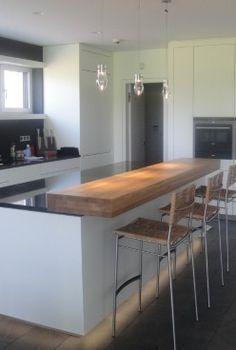 Kochinsel Mit Theke Aus Massivholz Kochinsel Mit Theke Aus Massivholz Preliminaire By Kath In 2020 Open Plan Kitchen Living Room Kitchen Island Design Kitchen Design