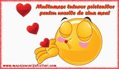 Felicitari de multumire - Va multumesc tuturor! Va pup! - mesajeurarifelicitari.com You Are Special, Happy Birthday Wishes, Emoticon, Winnie The Pooh, Smileys, Gaia, Einstein, Romantic, Facebook