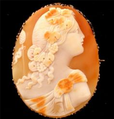 Antique Carved Shell Cameo Brooch 14k Gold RARE 1870 Stunning Victorian Pin | eBay